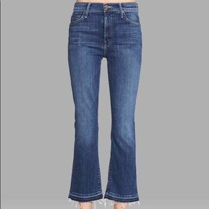 Mother The Insider Crop Jeans with Undone Hem